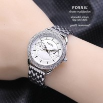 Grosir! FOSSIL CHRONO ACTIVE SILVER COVER WHITE
