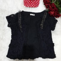 Baju fashion wanita atasan balero cardigan hitam import best seller 40414ef76b