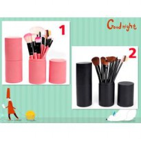 make up brush 12 set in tube/ kuas rias make up 12 set