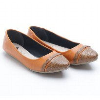 Dr.Kevin Women Flat Shoes Leather 43201 Tan