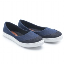 Dr. Kevin Women Slip On Canvas Shoes 43203 Blue