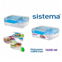 Sistema 1.65L Bento Lunch to Go Green
