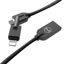 Mcdodo Kabel Data & Charger Knight Swries Zinc Alloy 2 in 1 Micro USB to Lightning CA-3911