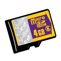 V-Gen Memory Micro SD HC 4GB / Transflash Class 6, Non Adapter