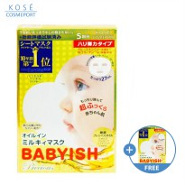 BUY 1 GET 1 Kose Clear Turn Babyish Precious Oil-in-Milky Mask Plumping (5 Sheets)