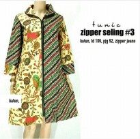 Dress Batik Tunic Zipper Selling
