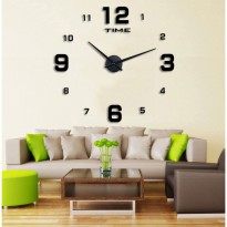 Jam Dinding Besar Giant Wall Clock Diameter 80 - 130 cm - Black