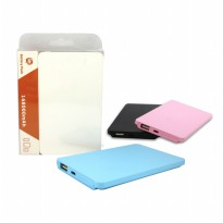 (SALE) Universal powerbank 138000 mAh Ultra SLIM 8mm Power Bank Murah