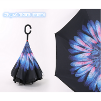 Payung Terbalik Gagang C Reverse Umbrella free bubble packing Elegan15