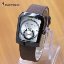 Grosir Jam Tangan Wanita / Pria Hush Puppies Ninja Leather Dark Brown Black