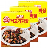 NL Ottogi 3 minutes x 12 개 Beef Sauce Sweet bean sauce onion beef aging varied and rich taste counts the number of bundles available: 2 / cotton /