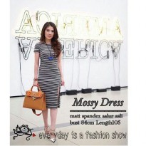 Mossy Dress black-white