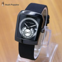 Grosir Jam Tangan Wanita / Pria Hush Puppies Ninja Leather Full Black