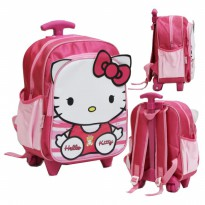Tas Trolley Anak TK & PG HELLO KITTY PITA CUTE Bahan Saten