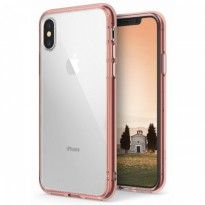 Rearth iphone X Case Ringke Fusion - Rose Gold