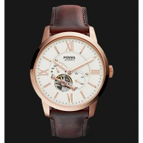 Fossil ME3105 Townsman Beige Dial Brown Leather Strap Watch