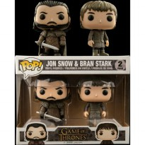 Funko Pop EXCLUSIVE - Game of Thrones - Jon Snow and Bran Stark (2 Pack)