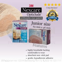3M nexcare Eye Patch Opticlude Penutup Mata anak @20