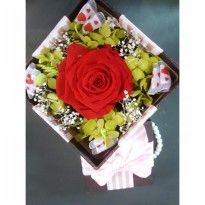 Bloom Box Red Rose Beauty Preserved Flower Beautiful Decoration