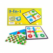 MAINAN MAGNETIC BOARD 3IN1 LUDO / SNAKE & LADDERS / CHINESE CHECKERS