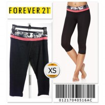 Forever 21 Workout Capris - 01217040516AC - SIZE XS