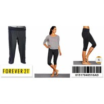 Forever 21 Workout Ruched Capris - 01517040516AD - SIZE S