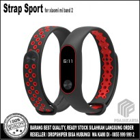 Strap Sport for Xiaomi Mi Band 2 Oled Display - Black Red