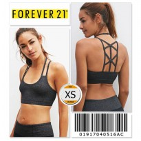 Forever 21 Women Activewear Strappy Sport Bra - 01917040516AC - SIZE XS