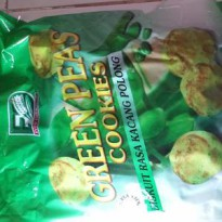 Ever Delicious Green Peas Cookies Biskuit Rasa Kacang Polong isi 40pcs Snack Vegetarian