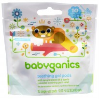Babyganics Teething Gel Pods 10 single-use