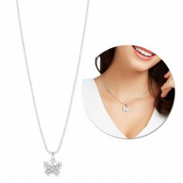 Sophie Paris Perhiasan Wanita Dagtia Necklace Silver-N00711S3