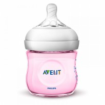 Philips Avent Natural 2.0 Baby Bottle 125ml Pink - SCF691/13