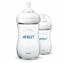 Philips Avent Natural 2.0 Baby Bottle 260 ml (Twin Pack) - SCF693/23