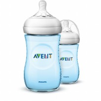 Philips Avent Natural 2.0 Baby Bottle 260 ml (Twin Pack) Blue - SCF695/23