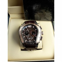 Aigner Palermo Silver combi Rosegold Brown dial