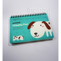 Weekly Planner Notebook / Buku Tulis Agenda Diary Motif Animal