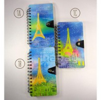 Mini Notebook / Buku Agenda Catatan / Diary Fancy - Kode BQ