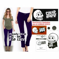 Celana Soft Jeans CHEAP MONDAY NAVY Skinny WANITA GROSIR BIG SIZE | GMMP88