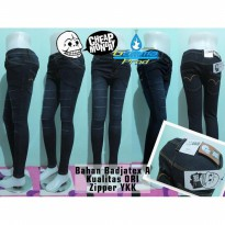Celana Jeans Cheap Monday Skinny Black Ten Slash Ripped Soft Jeans YKK | GMMP123