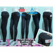 Celana Jeans Levis 523 Skinny Black Ten Slash Ripped Soft Jeans YKK | GMMP121