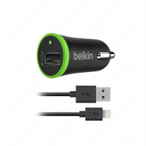 Belkin MIXIT Adapter Charger Mobil Single USB Port / Kabel Lightning / iPhone / iPad / iPod - Hitam