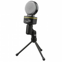 Universal Microphones Blue Condenser Snowball Ice with Stand for Gaming Laptop PC - SF-930 - Black