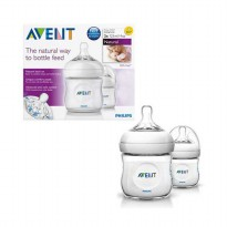 Avent Natural Bottle 125ml Twin - Botol Susu