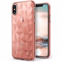 Rearth Iphone X Case Ringke Air Prism Thin TPU - Rose Gold