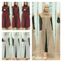 VEST RUBBY OUTER SIS ALL SIZE FIT TO L kualitas Bagus