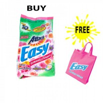 Promo Attack Easy Detergent 1.2kg Free Goodie Bag - Romantic Flowers