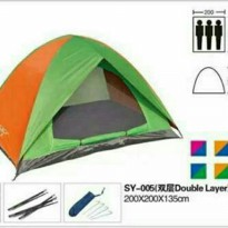 Tenda Dome Tenda Camping BNIX BN005 Kapasitas 4 Person Double Layer