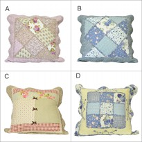Vintage Story Patchwork Seat Cushion Icon Tebal Pillow Bantal Sofa 60x60cm