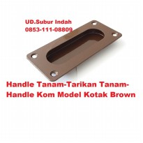 Handle Tanam-Tarikan Tanam-Handle Kom Model Kotak Brown