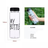 Botol Minum My Bottle 500ml - Transparant